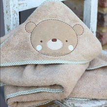 Alibaba China Organic Bamboo Fiber Terry Custom Hooded Bath Towel, Baby Hooded Towel