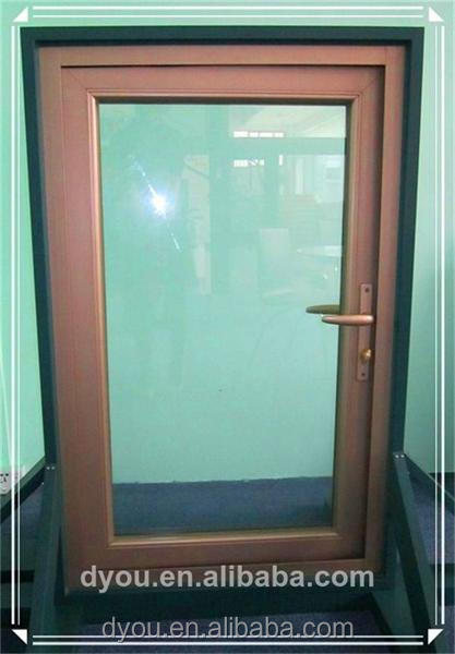 graceful solid wooden doors with glass from China