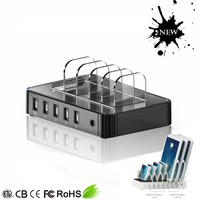5-port qc2.0 charging station for laptop charger docking station multi mobile phone charging station