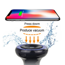 New <strong>Car</strong> Mount Vacuum Sucker Wireless <strong>Charger</strong> 360 Rotate QI Charging Phone Holder OEM ODM