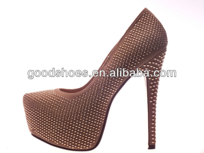 Trendy design sexy shoes very high heels 2014