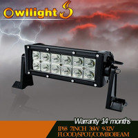 Dual Row 36w Off Road LED Light Bar,4x4 LED Driving Light Bar, LED Spot Lights for Trucks/UTV/Off Road Car/Mining