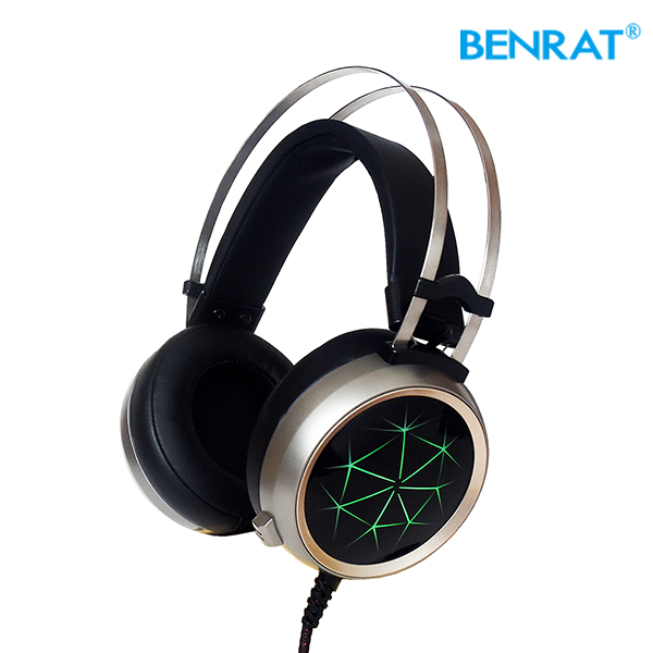 Surround USB Vibration Gaming Headset Headband Ebest 5.1 earphone with Microphone LED Light best 5.1 gaming headset