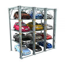 multi-deck mechanical automatic smart 4-Post car parking Lift machine for 4S stores