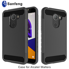 For Alcatel REVVL A30 Fierce Walters Mobile Phone Case Covers Carbon Fiber Line TPU and Plastic 2 in 1