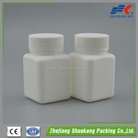 120ml Square PE Plastic Pill Bottle