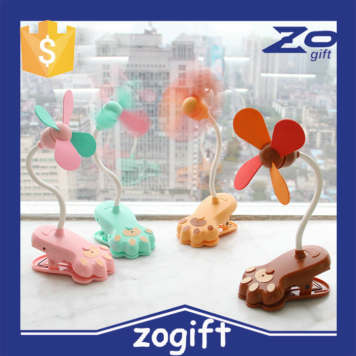 ZOGIFT Electric flexible table portable desk usb mini clip fan