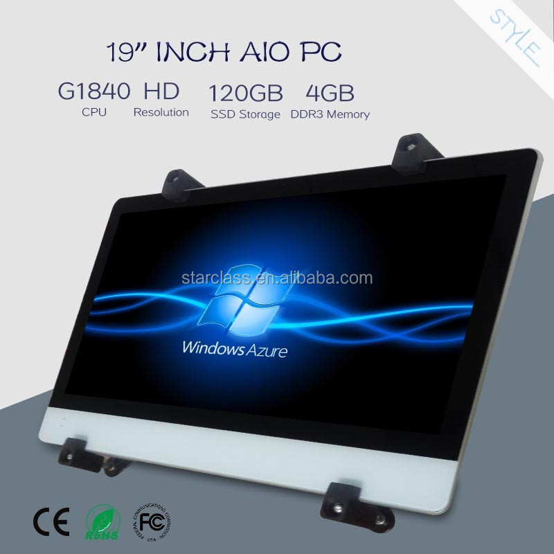 19 inch G1840 all in one computer with bracket 500GB HDD led tv smart pc <strong>1080P</strong>
