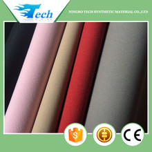 Various colors suede touch surface pu synthetic leather for packing phone case inside