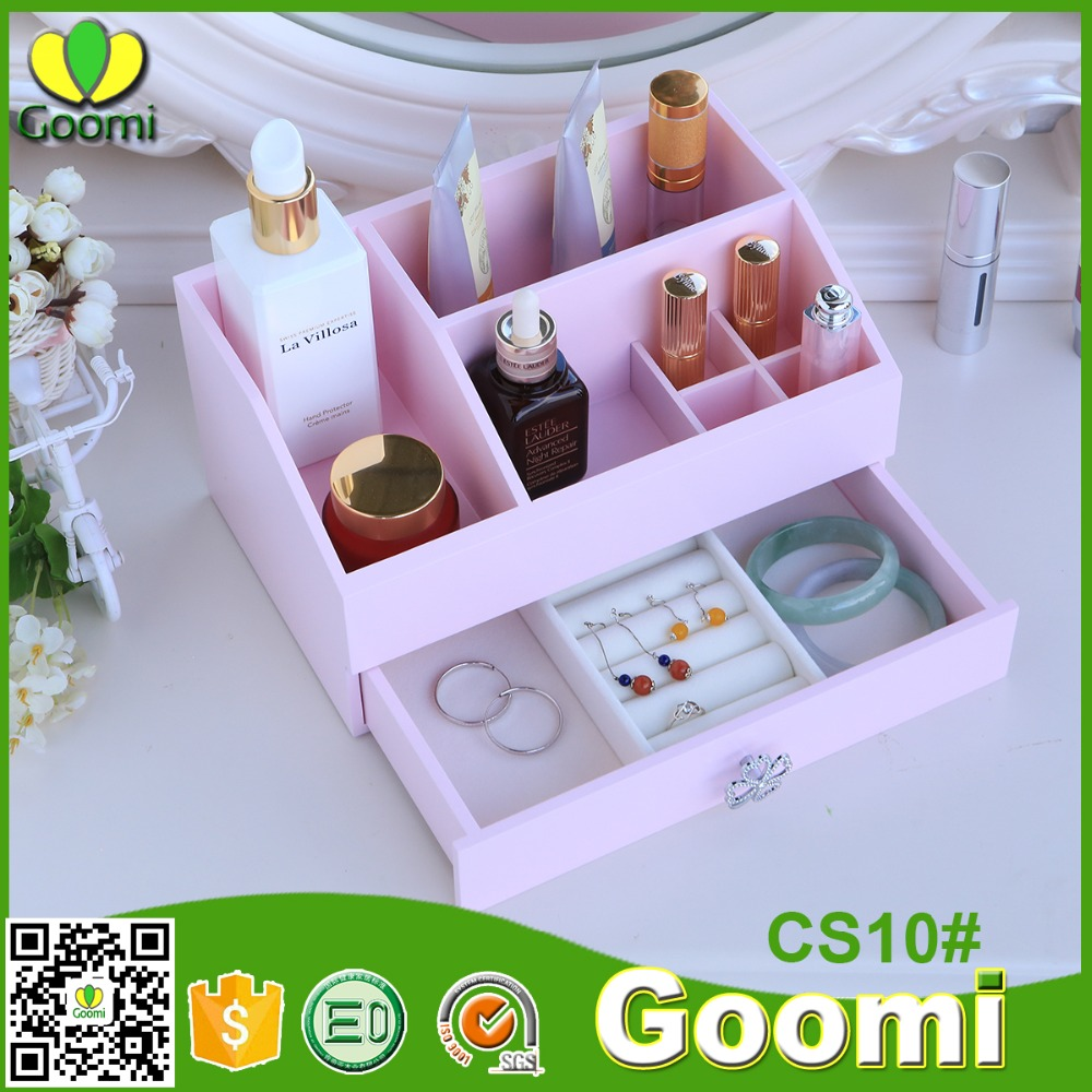 High quality CS10# E0 E1 MDF colors cosmetic wooden multipurpose keyway plastic storage box
