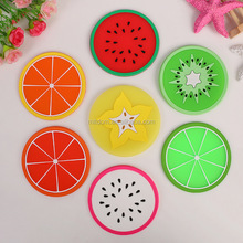 Popular table mat coaster fruit shape silicone cup mat