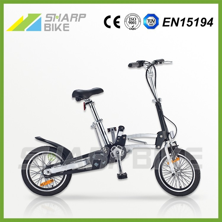 "16"" Light weight 3 speed one second fold sports bike for teenager"