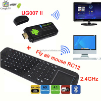 UG007II Dual Core Full HD 1080P WiFi Bluetooth Netflix Youtube Media Player Android TV Box+RC12 Air Mouse Keyboard