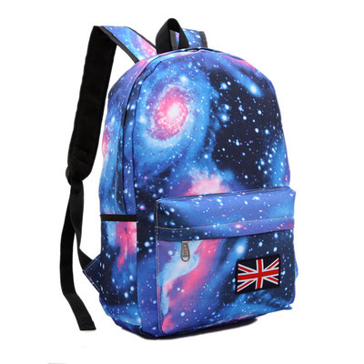 Galaxy Star Printing Women Travel Backpack Colorful Laptop School Bags for Girls