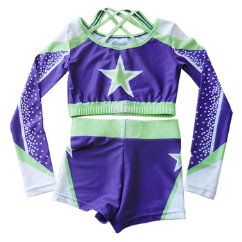 Cheerleading Shirt and Shorts, Plus Size Cheerleading Uniforms Custom