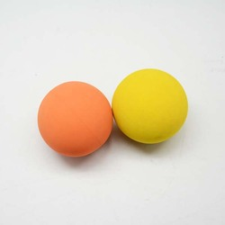 63mm/60mm/57mm Low Bounce Rubber Ball with Customized Logo for Game Colorful Hollow Rubber Ball