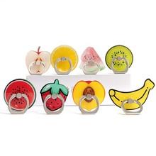 Hot selling fruit shape cell phone finger grip phone holder for different kind festival gifts