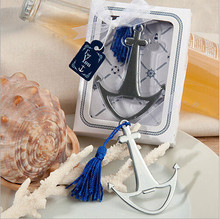 wedding giveaways and gift--nautical themed anchor beer bottle opener party favor wine opener