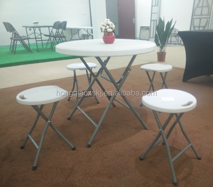 80*74cm small cheap plastic folding round table, banquet folding table, dining table made in china supplier