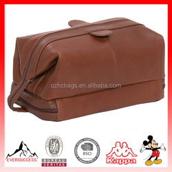 Personalized Cosmetic Bag Leather Toiletry Bag for travel