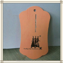 Die cut kraft paper hand tags for clothing