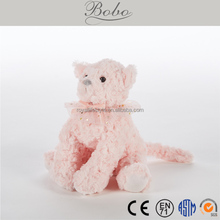 New design pink color cute cat plush toy gifts