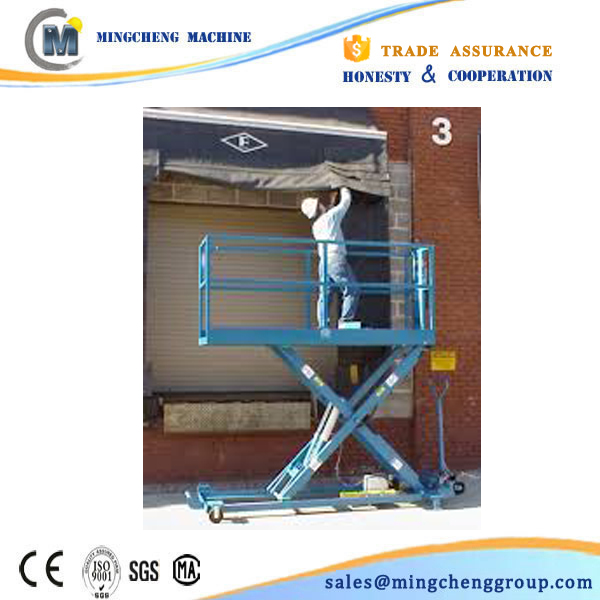 14m 4 wheel 16m height scissor lift suppliers by railway
