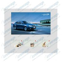 Multi-screen! Indoor Wall mounted lcd video display to advertise in retail stores