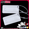 Hot selling double tone custom metal luggage tag in zinc