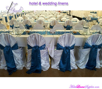 wholesale universal bag satin chair covers with sashes, wholesale self-tie bag satin chair covers