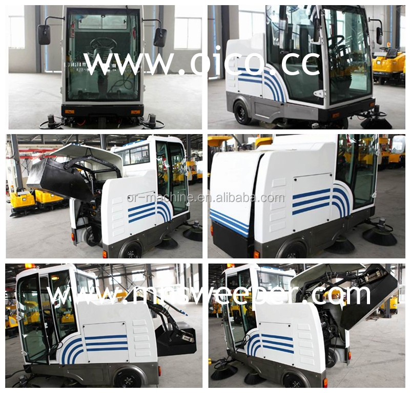 E800LD airport runway sweeper brush brooms sweeping scrubber cleaning machine