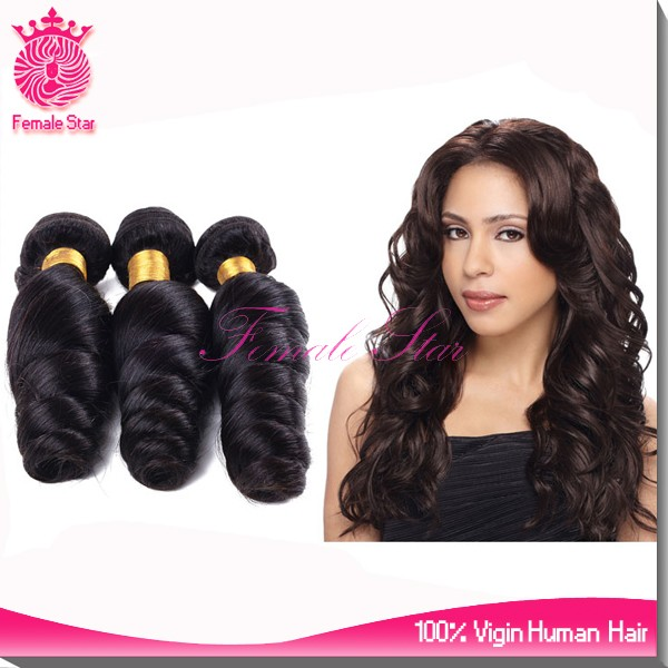 Alibaba Female Star 10A Brazilian Human Hair Virgin Brazilian Hair