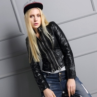 New Fashion Women Jeans Jacket Slim Fit Denim Jacket Wholesale Cheap Mens Leather Jacket