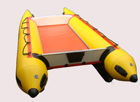 CE 6 passengers 4.3m inflatable catamaran for sale PVC material from Keora import