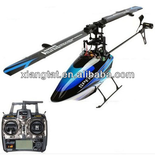 WLtoys V922 Flybarless 3D 6CH RC Helicopter W/ Gyro RTF 2.4G Remote control toys Blue color