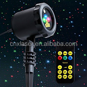 RED and Green and Blue -3 Color Laser Landscape Projector 12v christmas decorations star laser light show