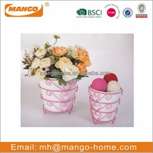 Indoor Colorful christmas decor Metal Flower Pot