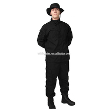 Popular ACU in military uniforms for army security in Custom Black color