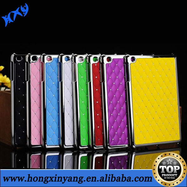 Rhombus Studded Rhinestone Electroplated Hard Case For iPad 2 3 4
