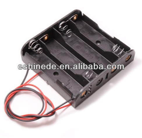 4 AA Battery Holder 6V Flat Power Pack for DIY Electronics Projects