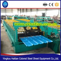Bending Roof Construction Equipment Color Steel Plate Corrugated Iron Cold Galvanizing Aluminium Roofing Sheet Making Machine