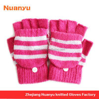 Low MOQ Fashion Ladies Glove With Flip Top Cover