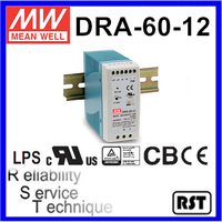 DRA-60-12 Single Output Switching Taiwan Mean Well 60W 12V Industrial Din Rail Power Supply