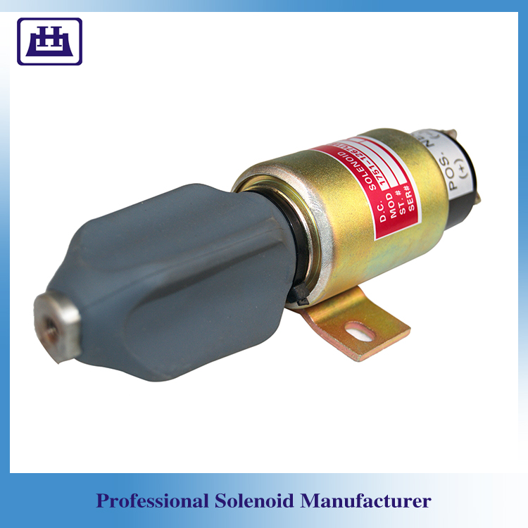 12v Fuel Stop Solenoid For Excavator With 3 Terminals And Electrical Valves