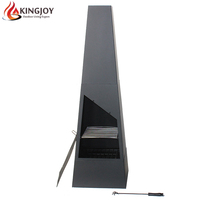 Modern charcoal steel outdoor Chiminea for wood burning