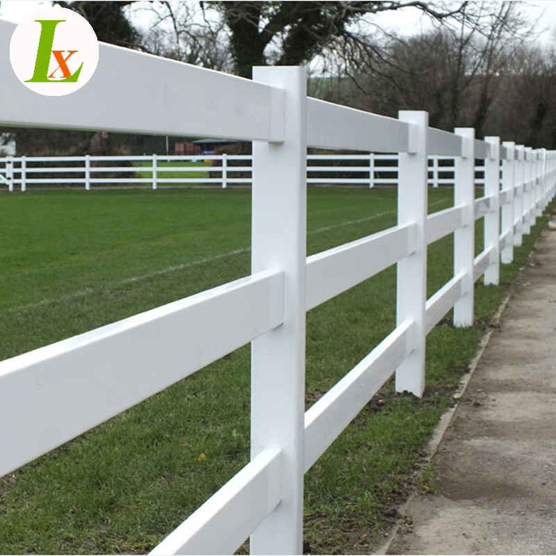 Factory Supply 3 Rails White Vinyl Horse Fence,PVC Fencing For Sale