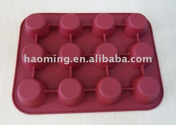 12 cups cake mould silicon cup cake tray
