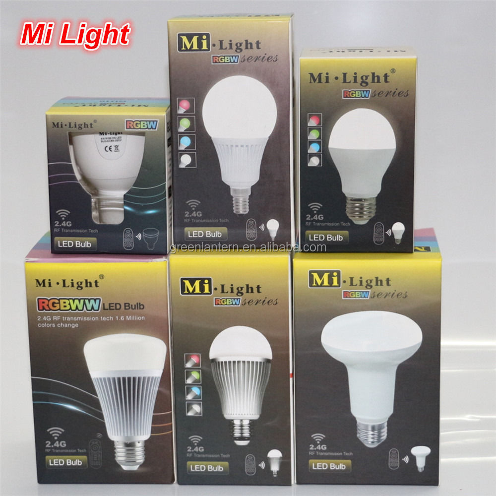 Dimmable 2.4G Mi Light GU10 E14 E27 Led Lamp 4W 5W 6W 8W 9W 12W RGBW RGBWW Bulb