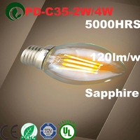c35 4w dimmable filament led bulb candle lamp e12/e14 candelabra 2w/3w/4w/6w ul electric filament lamps