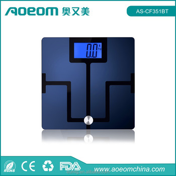 Large LCD Body fat Digital Bluetooth Scale for Android and iOS